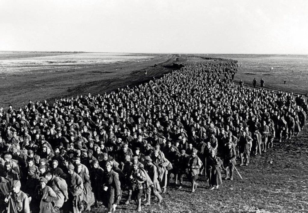 Krigsfångar i Auschwitz koncentrationsläger
