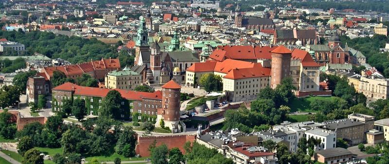 Bussresa till Krakow - en vy över staden